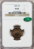 Proof Shield Nickels: , 1870 5C PR65 NGC. CAC. NGC Census: (63/15). PCGS Population (71/5).Mintage: 1,000. Numismedia Wsl. Price for problem free ...