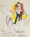 Mainstream Illustration, LEROY NEIMAN (American, b. 1926). Playboy After Dark,December 19, 1968. Colored marker on paper. 17 x 13.5 in.. Signed...