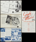 """Movie Posters:Short Subject, A Pete Smith Specialty Lot (MGM, 1934, 1952 & 1953). PressSheets (4) (4 Pages each, 8.5"""" X 11""""). Short Subjects.. ... (Total:4 Items)"""