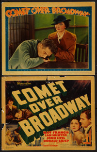 """Comet Over Broadway (Warner Brothers, 1938). Title Lobby Card and Lobby Card (11"""" X 14""""). Drama. ... (Total: 2..."""