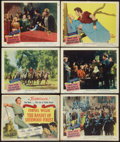 "Movie Posters:Adventure, The Bandit of Sherwood Forest (Columbia, 1946). Title Lobby Card& Lobby Cards (5) (11"" X 14"") and Promo (8.5"" X 11.75""). Ad...(Total: 7 Items)"