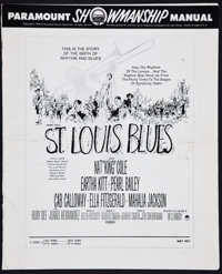 St. Louis Blues and Others Lot (Paramount, 1958). Uncut Pressbooks (3) (Multiple Pages, Various Sizes). Drama. ... (Tota...