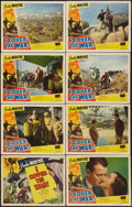 "Movie Posters:Action, I Cover the War (Realart, R-1940s). Lobby Card Set of 8 (11"" X14""). Action.. ... (Total: 8 Items)"