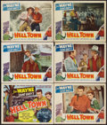 "Movie Posters:Western, Hell Town (Favorite Films, R-1950). Title Lobby Card and Lobby Cards (5) (11"" X 14""). Western.. ... (Total: 6 Items)"