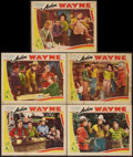 """Movie Posters:Western, The Trail Beyond (Monogram, R-1930s). Stock Lobby Cards (5) (11"""" X 14""""). Western.. ... (Total: 5 Items)"""