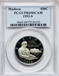 Modern Issues, 1993-S 50C Bill of Rights Half Dollar PR69 Deep Cameo PCGS. PCGSPopulation (2516/39). NGC Census: (2035/41). Mintage: 559,...