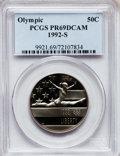 Modern Issues: , 1992-S 50C Olympic Half Dollar PR69 Deep Cameo PCGS. PCGSPopulation (2010/122). NGC Census: (12/1). Mintage: 519,699.Numi...