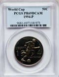 Modern Issues: , 1994-P 50C World Cup Half Dollar PR69 Deep Cameo PCGS. PCGSPopulation (2182/4). NGC Census: (9/1). Numismedia Wsl. Price ...