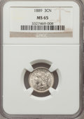 Three Cent Nickels: , 1889 3CN MS65 NGC. NGC Census: (28/24). PCGS Population (22/36).Mintage: 18,100. Numismedia Wsl. Price for problem free NG...