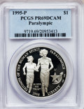 Modern Issues: , 1995-P $1 Olympic/Paralympics Silver Dollar PR69 Deep Cameo PCGS.PCGS Population (1955/71). NGC Census: (1403/40). Numism...
