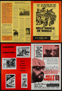"""Hells Angels on Wheels and Other Lot (U.S. Films Inc., 1967). Uncut Pressbooks (2) (Multiple Pages, 11"""" X 15""""..."""