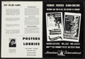 """Movie Posters:Horror, I Was a Teenage Werewolf/I Was a Teenage Frankenstein Combo(American International, 1957). Uncut Pressbook (4 Pages, 10.75""""..."""