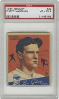 "Baseball Cards:Singles (1930-1939), 1934 Goudey Floyd Vaughan #22 VG/EX PSA 4. More commonly known as""Arky"" Vaughan, presented here is the HOF's 1934 Goudey ca..."