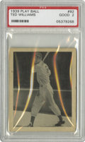 Baseball Cards:Singles (1930-1939), 1939 Play Ball Ted Williams #92 PSA Good 2. A classic rookie imageof this HOF hitting great from the Boston Red Sox. Typi...