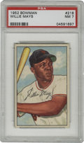 Baseball Cards:Singles (1950-1959), 1952 Bowman Willie Mays #218 NM PSA 7. Early-career card for theHOF centerfielder of the New York Giants. Near flawless car...