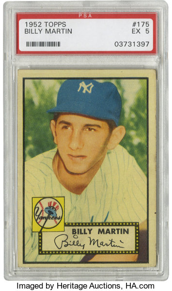 1952 Topps Billy Martin 175 Psa Ex 5 Rookie Card Of The