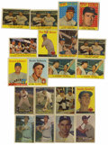 Baseball Cards:Lots, 1957-1958 Topps Baseball Group Lot of 486. Highlights include 1957Topps (2) #1 Williams (color added to front of one), 2 Be...