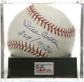 "Autographs:Baseballs, Steve Carlton ""329/4136"" Single Signed Baseball, PSA Mint+ 9.5. Thelefty ace Carlton adds ""329/4136,"" making reference to ..."