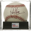 Autographs:Baseballs, Pedro Martinez Single Signed Baseball, PSA Mint 9. The three-timeCy Young winner Pedro Martinez made it possible for us to...