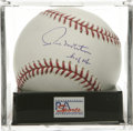 "Autographs:Baseballs, Paul Molitor ""HOF 04"" Single Signed Baseball, PSA Gem Mint 10.Cooperstown's only member inducted as a DH, Paul Molitor mak..."