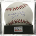 "Autographs:Baseballs, Phil Niekro ""H.O.F. 97"" Single Signed Baseball, PSA Gem Mint 10.Stellar example of the HOF knuckleballer's signature appea..."