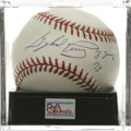 "Autographs:Baseballs, Gaylord Perry ""Cy Young 78"" Single Signed Baseball, PSA Mint 9. Thelast of the great spitballers, Perry makes note of his ..."