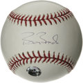 Autographs:Baseballs, Barry Bonds Single Signed Baseball. High-grade single derives fromBonds' personal memorabilia company, and is affixed with...