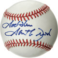 Autographs:Baseballs, Garth Brooks Single Signed Baseball. A bold blue felt tip sweetspot signature from the country music superstar. ONL (Cole...