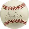 Autographs:Baseballs, George W. Bush Single Signed Baseball. Before his career inpolitics that included a position as Governor of Texas, our cur...