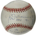 Autographs:Baseballs, Rod Carew Single Signed Stat Baseball. Limited edition (308/1000)baseball offers a sweet spot signature and a lengthy notat...