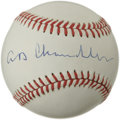 Autographs:Baseballs, Happy Chandler Single Signed Baseball. Near flawless visual exampleof Hall of Fame executive Happy Chandler's signature ap...
