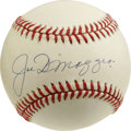 Autographs:Baseballs, Joe DiMaggio Single Signed Baseball. An attractive, evenly tonedOAL (Budig) orb that has been made available here has been...