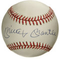 Autographs:Baseballs, Mickey Mantle Single Signed Baseball. Yet another great example of the hobby-favorite Mickey Mantle single, which displays ...