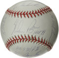 Autographs:Baseballs, Nolan Ryan Single Signed Stat Baseball. Many would be happy to ownan impressive single from their favorite ballplayer, but...