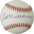 Autographs:Baseballs, Ted Williams Single Signed Baseball. Near flawless example of theSplendid Splinter's signature appears here on the sweet s...