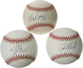 Autographs:Baseballs, New York Yankees Stars Single Signed Baseballs Lot of 3. Threestars who plied their trade in Yankee pinstripes during the ...