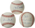 Autographs:Baseballs, Philadelphia Phillies Stars Single Signed Baseballs Lot of 3. DickAllen, and Hall of Famers Jim Bunning and Robin Roberts r...