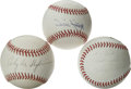 Autographs:Baseballs, Pittsburgh Pirates Stars Single Signed Baseballs Lot of 3.Steeltown trio for fans of the black and gold. 1) Willie Starge...