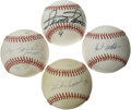Autographs:Baseballs, Chicago White Sox Greats Single Signed Baseballs Lot of 4. A lookinto the rich history of the Chicago White Sox baseball c...