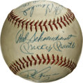 Autographs:Baseballs, 1963-65 New York Yankees and Pittsburgh Pirates Multi-SignedBaseball. Eleven signatures appear on this orb, all but one co...