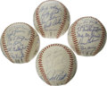 Autographs:Baseballs, 1970 San Francisco Giants Team Signed Baseballs Group Lot of 4. OneONL (Feeney) and three ONL (Giles) balls feature between... (Total:4 Items)
