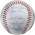 Autographs:Baseballs, 1980 Houston Astros Team Signed Baseball. Twenty-two signaturesfrom the 1980 Houston Astros appear on the clean white souv...