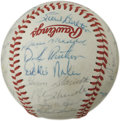 Autographs:Baseballs, 1980 Philadelphia Phillies World Champion Team Signed Baseball. Anastounding thirty-two members of the World Series Champi...