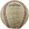 Autographs:Baseballs, 1980 Pittsburgh Pirates Team Signed Baseball. Here we see anexample of twenty-six signatures from the 1980 Pittsburgh Pira...