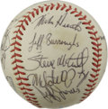 Autographs:Baseballs, 1982 Oakland Athletics Team Signed Baseball. Twenty-one members ofthe 1982 Oakland Athletics have checked in on the offere...