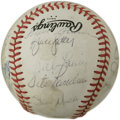 Autographs:Baseballs, 1982 St. Louis Cardinals World Champion Team Signed Baseball. Fromthe 1982 World Series winners we offer this OAL (Feeney)...