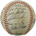 Autographs:Baseballs, 1983 Kansas City Royals Team Signed Baseball. The 1983 Kansas CityRoyals are represented here by twenty-five signatures on...