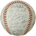 Autographs:Baseballs, 1992 Toronto Blue Jays World Champion Team Signed Baseball. Each ofthe twenty-eight signatures that appear on the offered ...
