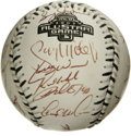 Autographs:Baseballs, 2003 National League All-Star Team Signed Baseball. In an attempt to restore some of the interest to the All-Star game afte...