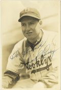 Autographs:Photos, Hugh Casey Signed George Burke Photograph. Captured by thediscerning eye of the masterful baseball photographer George Bur...